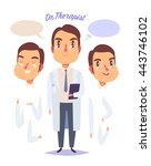 medical staff character. young... | Shutterstock .eps vector #443746102