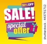 big sale banner. special offer. ... | Shutterstock .eps vector #443751712