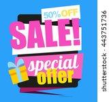 big sale banner. special offer. ... | Shutterstock .eps vector #443751736