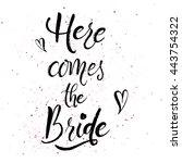 wedding stationary brush... | Shutterstock .eps vector #443754322