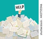 concept of hard working.... | Shutterstock .eps vector #443755546