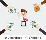 honest businessman or employee... | Shutterstock .eps vector #443758546