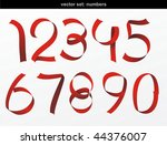 vector red ribbon formed the...