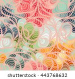 abstract vector color wave...