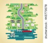 oil energy in flat design   Shutterstock .eps vector #443773078