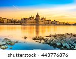 view of budapest parliament at... | Shutterstock . vector #443776876