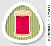 reel with thread  vector... | Shutterstock .eps vector #443793556