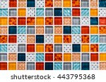 colorful ceramic mosaic tiles ... | Shutterstock . vector #443795368
