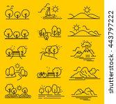 outline design view images... | Shutterstock .eps vector #443797222