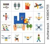 drones icon set | Shutterstock .eps vector #443804755