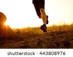close up of sportsman's legs...   Shutterstock . vector #443808976