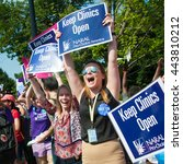 Small photo of WASHINGTON JUNE 27: Pro-choice activists celebrate the Supreme Courtâ??s ruling on abortion access in front of the Supreme Court in Washington, DC on June 27, 2016