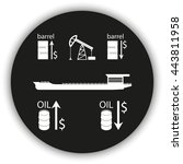 set of barrel oil icon. oil... | Shutterstock .eps vector #443811958