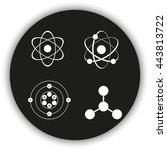 atom icon set. | Shutterstock .eps vector #443813722