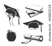 education elements for vintage  ... | Shutterstock .eps vector #443822218