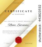 certificate design border frame.... | Shutterstock .eps vector #443823532