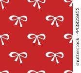 seamless beauty bow pattern.... | Shutterstock .eps vector #443823652