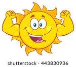 Happy Sun Cartoon Mascot...