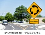 sign for roundabout... | Shutterstock . vector #443834758