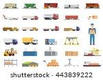 Set Of Icons Transport...