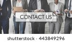 contact us customer support... | Shutterstock . vector #443849296