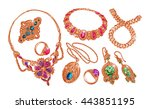 gems  jewelry. gold  wedding...   Shutterstock .eps vector #443851195