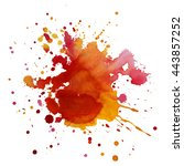 expressive abstract watercolor... | Shutterstock .eps vector #443857252