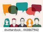men and women avatar profile... | Shutterstock .eps vector #443867962