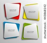 design shape origami vector... | Shutterstock .eps vector #443868142