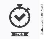 timer sign icon. check... | Shutterstock .eps vector #443875696