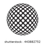 golf ball. vector illustration | Shutterstock .eps vector #443882752