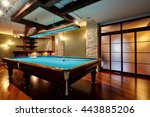 Billiard Room With A Beautiful...