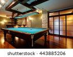 Billiard Room With A Beautiful...
