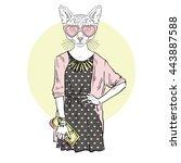 Cat Girl Hipster  Furry Art...