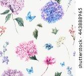 Summer Vintage Floral Seamless...