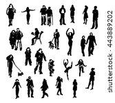set of vector people... | Shutterstock .eps vector #443889202