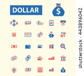 dollar icons | Shutterstock .eps vector #443896042