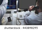 mockup copyspace computer... | Shutterstock . vector #443898295
