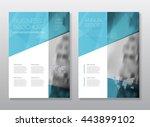 business brochure design.... | Shutterstock .eps vector #443899102