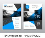 two business presentation with...   Shutterstock .eps vector #443899222