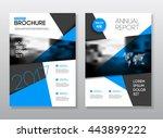 annual report vector...   Shutterstock .eps vector #443899222