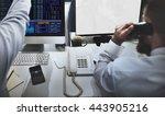 mockup copyspace computer... | Shutterstock . vector #443905216