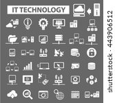 it technology icons | Shutterstock .eps vector #443906512