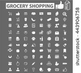 grocery shopping icons | Shutterstock .eps vector #443906758