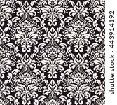 vector damask seamless pattern... | Shutterstock .eps vector #443914192