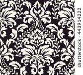vector damask seamless pattern... | Shutterstock .eps vector #443914222