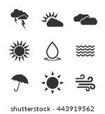 weather icons  | Shutterstock .eps vector #443919562