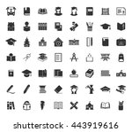 school icons set | Shutterstock .eps vector #443919616