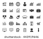 management icons set | Shutterstock .eps vector #443919646
