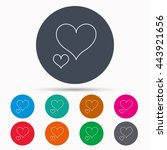 love hearts icon. lovers sign.... | Shutterstock .eps vector #443921656